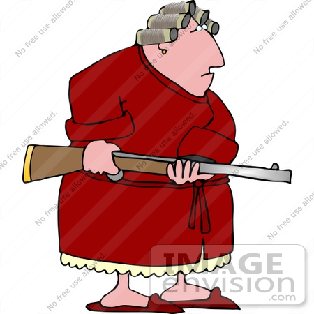 Angry Woman on PMS, Holding a Rifle Clipart | #14779 by DJArt ...