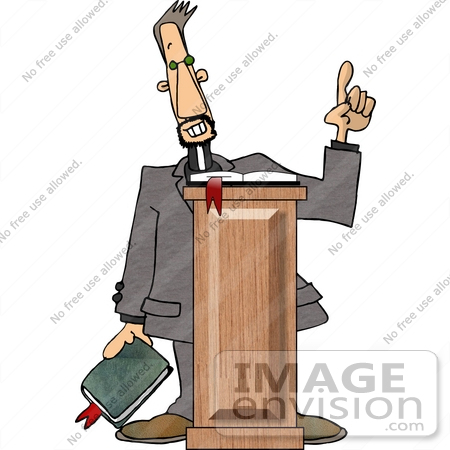 #14802 Preacher Giving a Sermon Clipart by DJArt