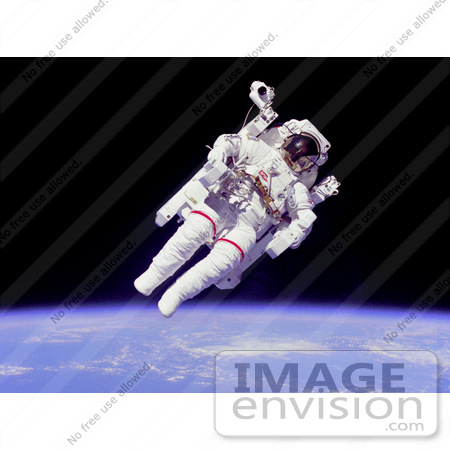 #15435 Picture of Bruce McCandless II Suited With a MMU in Outer Space by JVPD