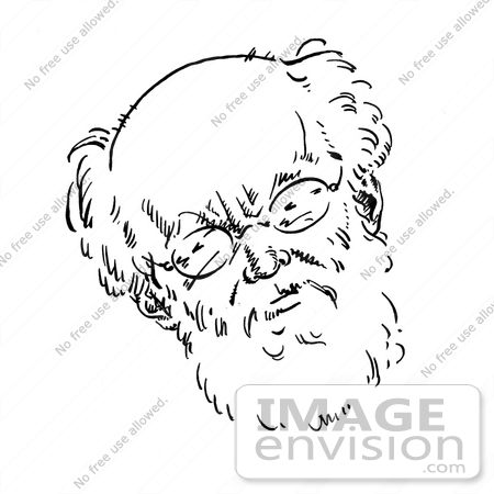 #16174 Picture of a Caricature of Karl Kautsky by JVPD