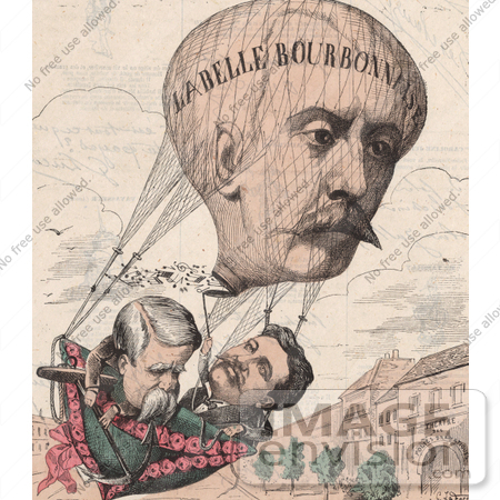 #16178 Picture of a Hot Air Balloon Caricature by JVPD