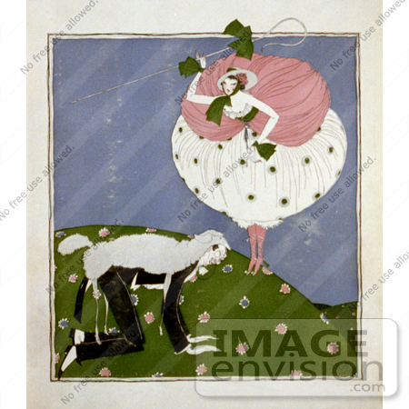#16185 Picture of a Caricature of Little Bo Peep by JVPD