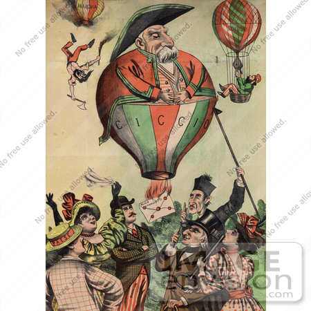 #16188 Picture of Francesco Crispi as a Balloon Caricature by JVPD