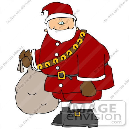 #16514 Saint Nicholas in Full Costume, Carrying a Sack Clipart by DJArt