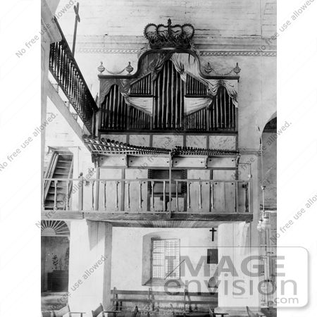 #1700 Picture of a Bamboo Pipe Organ in a Church, Las Pinas, Luzon Island, Philippines by JVPD