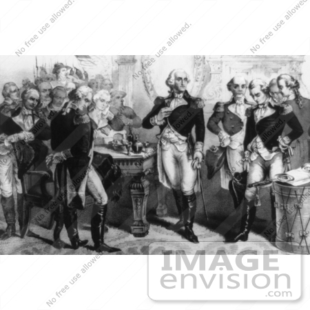 #1722 Washington Taking Leave of the Officers of his Army by JVPD