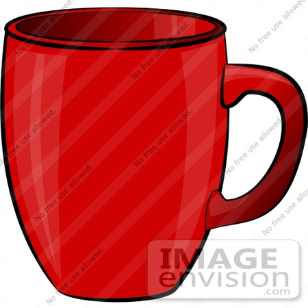 #17250 One Red Coffee Mug Clipart by DJArt