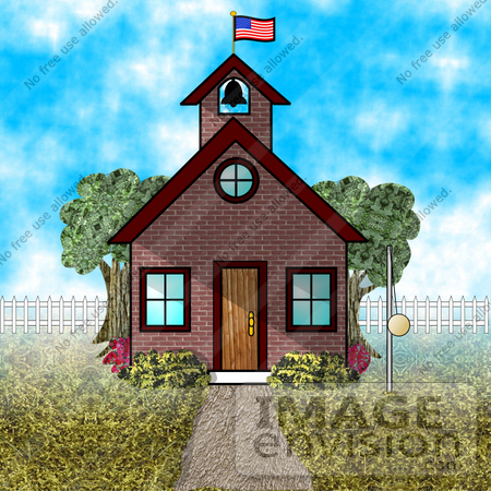 clip art school house. #17252 One Room Schoolhouse
