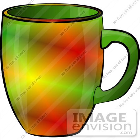 #17261 Colorful Coffee Mug Clipart by DJArt