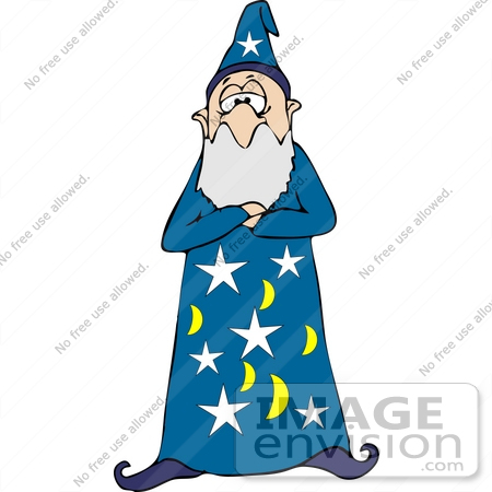 wizard holding a wand clipart 17478 by djart royalty free