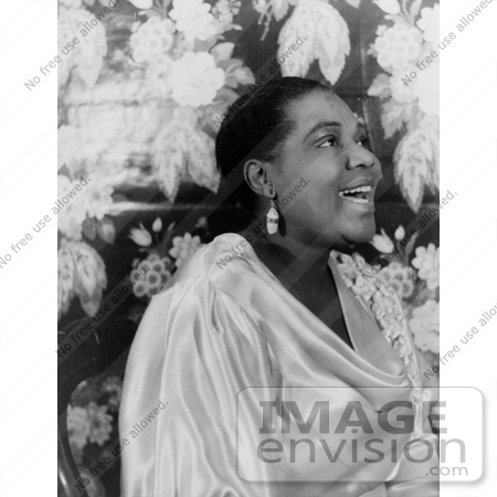 #17610 Picture of Blues Singer Bessie Smith in a Satin Dress, Singing by JVPD