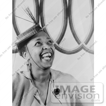 #17621 Picture of Blues Music Singer, Ethel Waters, Wearing a Hat by JVPD