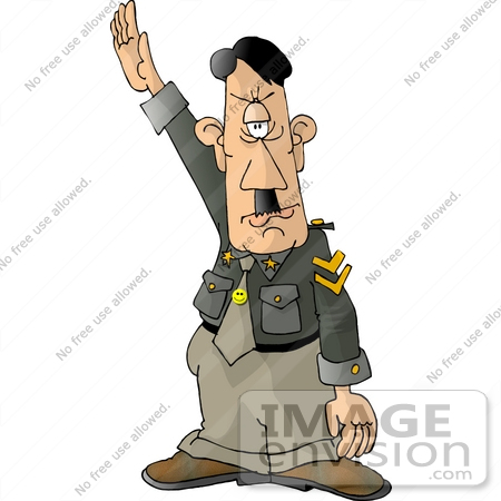 #17643 Adolf Hitler Saluting Clipart by DJArt