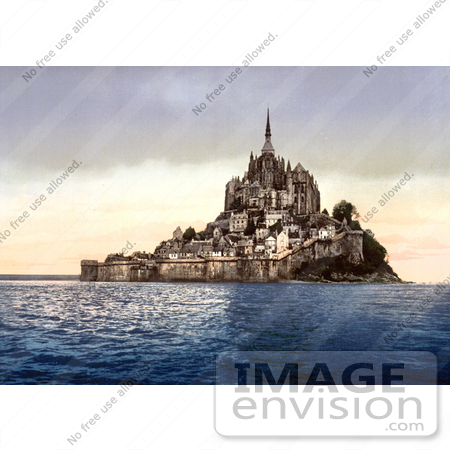 #17713 Picture of Mont St Michel at High Tide, Normandy, France by JVPD