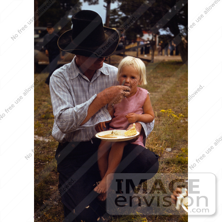 #17877 Photo of a Cowboy Father Feeding His Daughter by JVPD