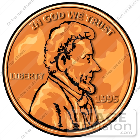 Abraham Lincoln On A Penny Clipart 17886 By Djart