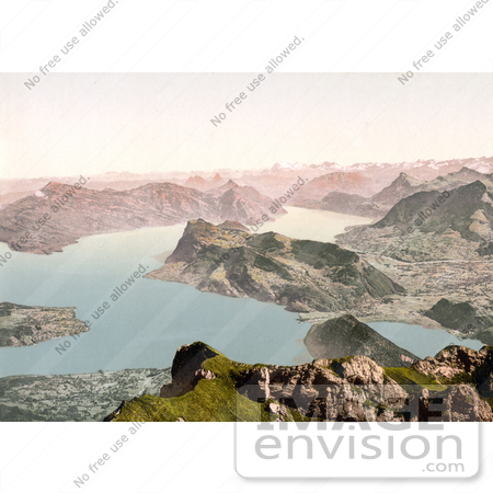 #17948 Picture of the Lake of Four Cantons in Switzerland by JVPD