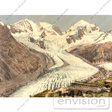 #17975 Picture of Roseg Glacier and Alp Ota, Swiss Alps, Grisons, Switzerland by JVPD