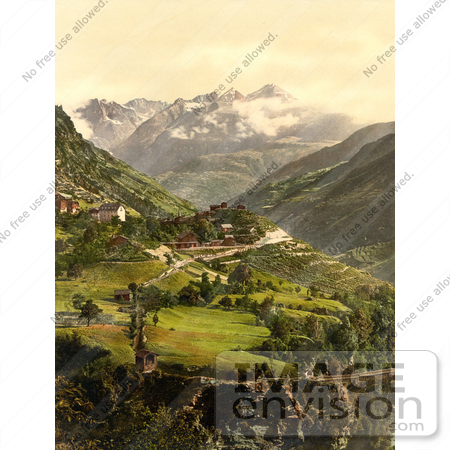 #17977 Picture of the Village of Stalden, Switzerland by JVPD
