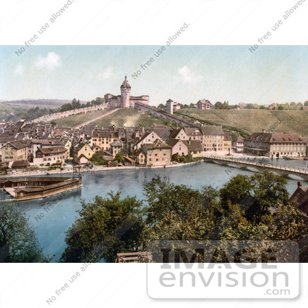 #18006 Picture of the Fortified Munot on the Hilltop of Schaffhausen, Switzerland by JVPD