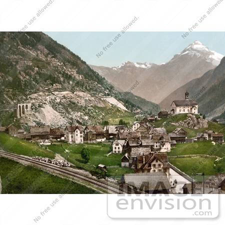 #18008 Picture of the Village of Wassen, St. Gotthard Pass, Uri, Switzerland by JVPD