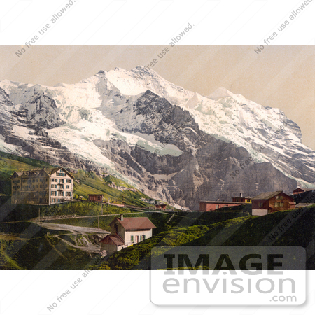 #18020 Picture of Scheidegg Pass and Jungfrau Mountain, Switzerland by JVPD