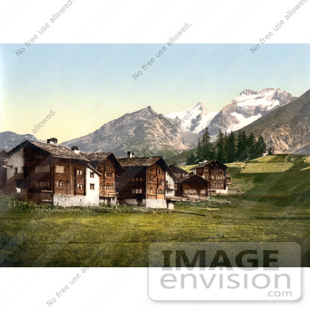 #18034 Picture of The Saas Fee Village, Valais, Switzerland by JVPD