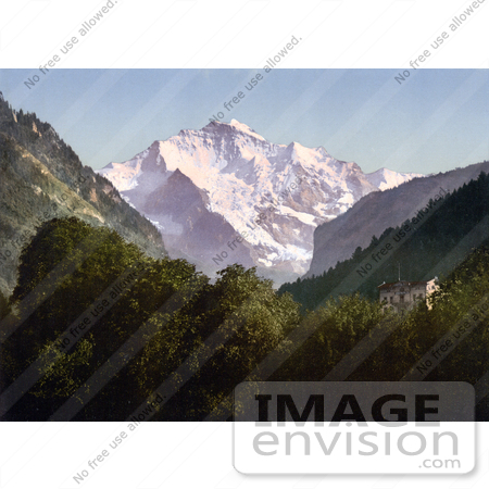 #18055 Picture of Jungfrau Mountain in the Swiss Alps, Bernese Oberland, Switzerland by JVPD