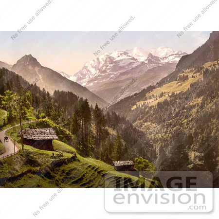 #18061 Picture of Kienthal and Alpine Hut in Bernese Oberland, Switzerland by JVPD