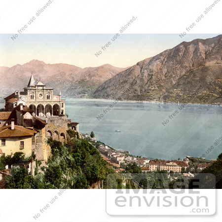 #18086 Picture of the Madonna del Sasso Above Locarno and Lake Maggiore, Ticino, Tessin, Switzerland by JVPD