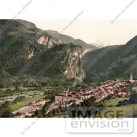 #18183 Photo of the Village of Thusis in the Upper Engadine Valley, via Mala, Grisons, Switzerland by JVPD