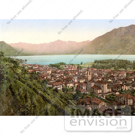#18197 Photo of Locarno on the Shore of Maggiore Lake, Ticino, Tessin, Switzerland by JVPD