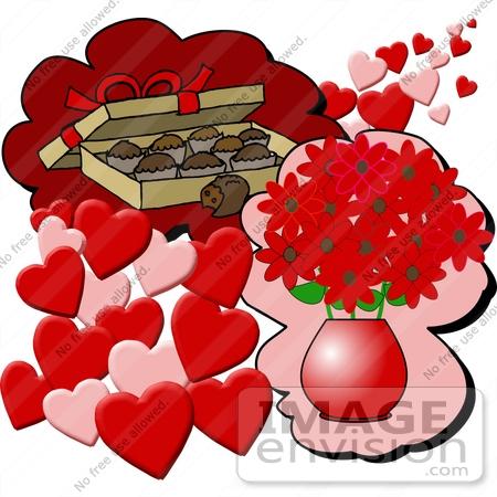 valentines day flower clip art – Cliparts