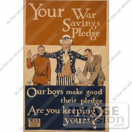 #1844 Your War Savings Pledge by JVPD