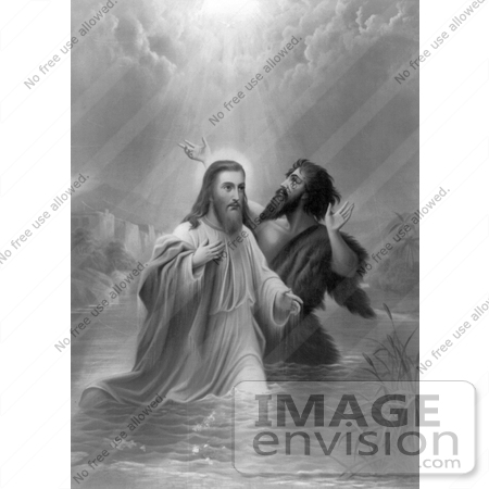 #18563 Photo of a Ray of Light From Heaven on the Baptism of Jesus Christ by JVPD