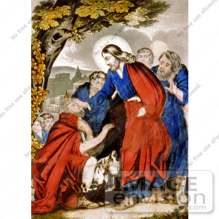 #18594 Photo of Jesus Christ Restoring a Blind Man's Sight by JVPD
