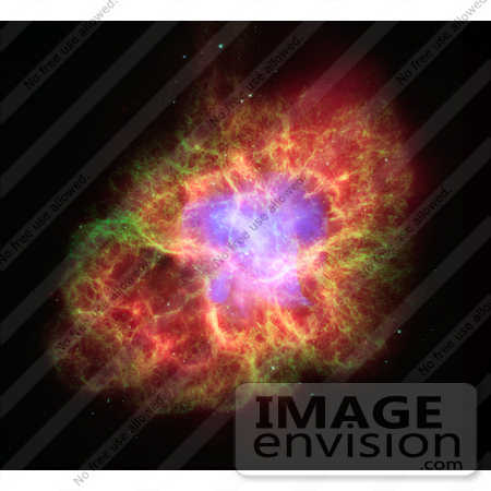 #18704 Photo of the Death of a Star in Crab Nebula by JVPD