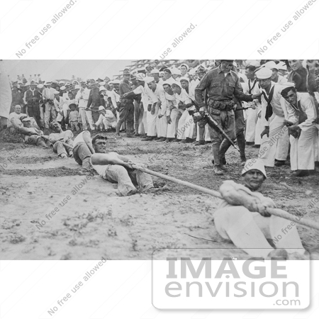 #18809 Photo of Navy and Marine Corps Men in a Battle of Tug of War by JVPD