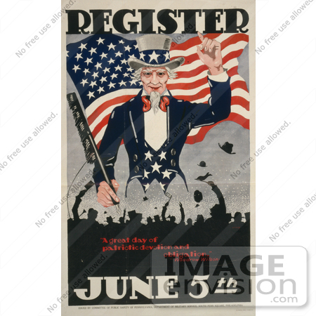 #1892 Uncle Sam, Register June 5th by JVPD
