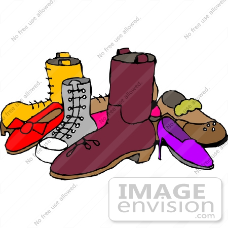 group of shoes clipart 18936 by djart royalty free stock cliparts rh imageenvision com shoes clipart clip art of shoe print