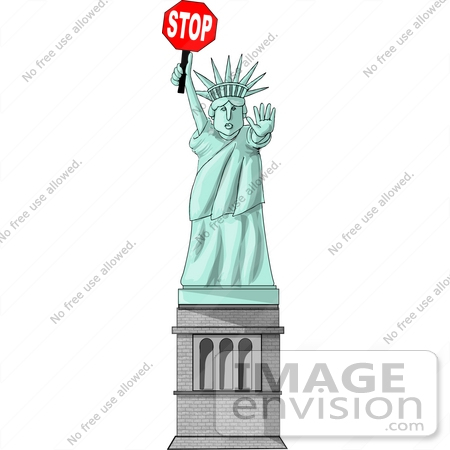 Liberty Enlightening the World Statue of Liberty Holding a Red ...