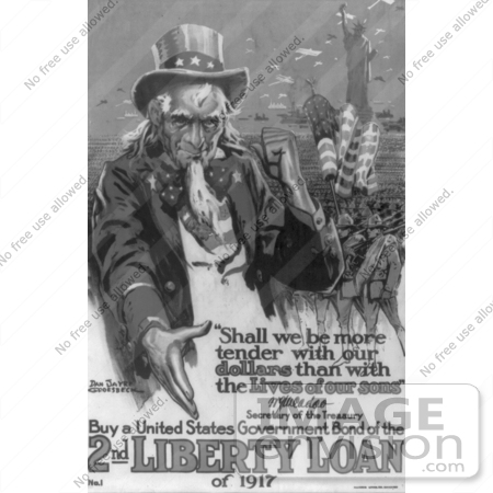 #1903 Buy a United States Government Bond of the 2nd Liberty Loan of 1 by JVPD