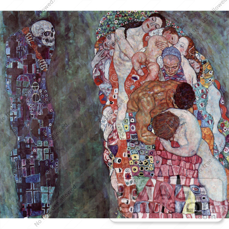 #19048 Photo of Death and Life by Gustav Klimt by JVPD
