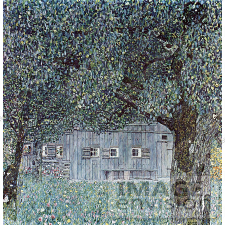 #19076 Photo of Oberosterreichisches Bauernhaus, Building Through Trees by Gustav Klimt by JVPD