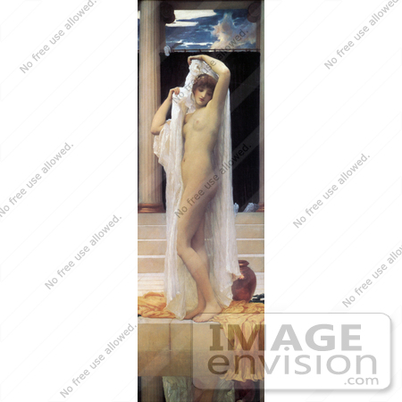 #19141 Photo of a Nude Woman Undressing by a Pool, The Bath of Psyche by Frederic Lord Leighton by JVPD