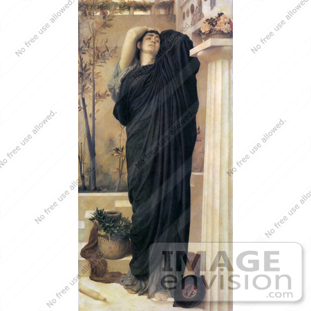 #19143 Photo of Electra at the Tomb of Agamemnon by Frederic Lord Leighton by JVPD
