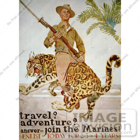 #1928 Travel? Adventure? Answer - Join the Marines! by JVPD