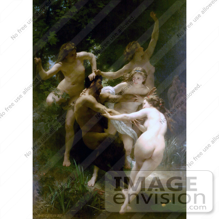 #19295 Photo of Nymphes et Satires, Nymphs and Satyr by William-Adolphe Bouguereau by JVPD