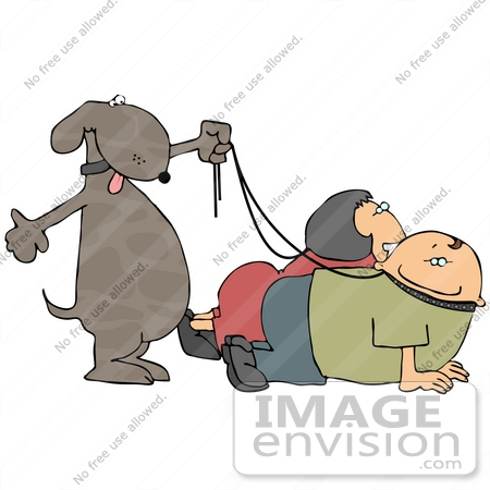 clipart dog walking. #19374 Dog Walking its Owners
