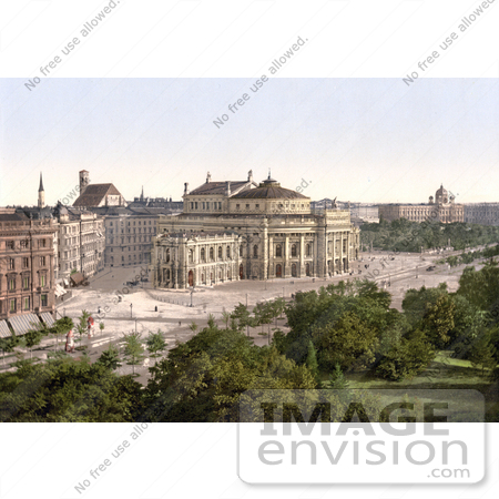#19464 Stock Photo of the Burgtheater, the City Theatre in Vienna, Austria, Austro-Hungary by JVPD